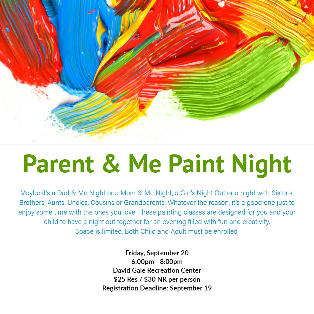 Parent and Me Paint Night